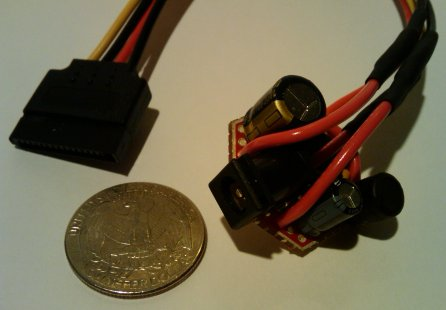 DIY Coin-sized SATA Power Module to