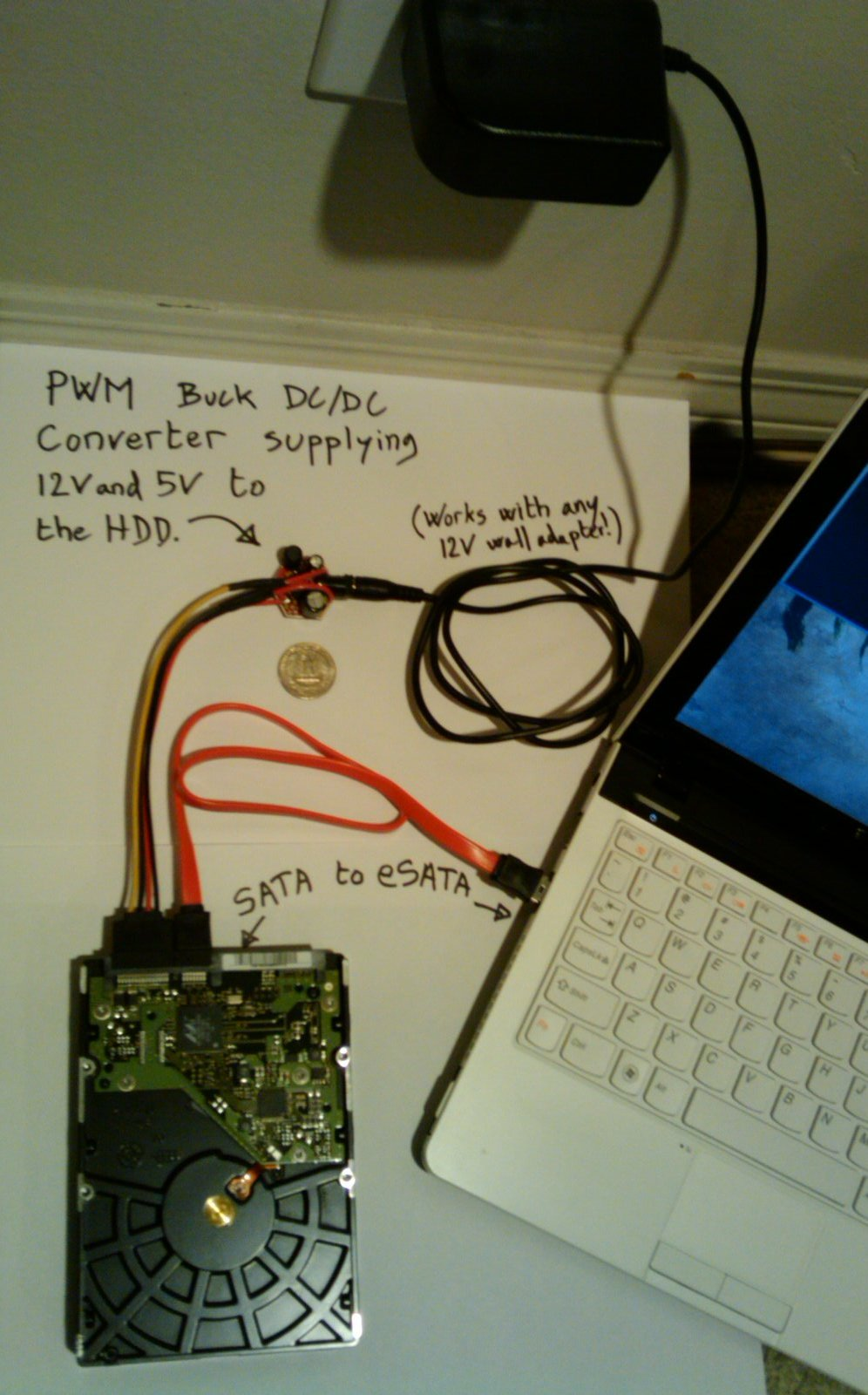 Diy Coin Sized Sata Power Module To Replace A Harddrive Docking Station Supply Circuit Diagram For Usb Devices